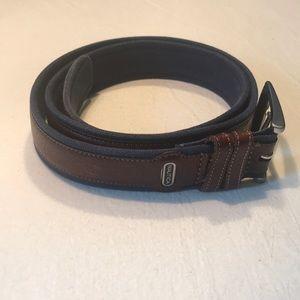 NAUTICA Canvas Belt Leather Overlay Men